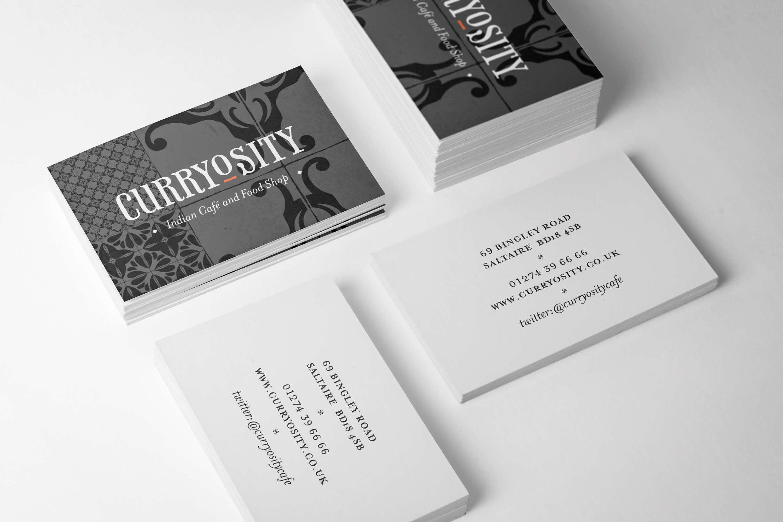 Curryosity Business Cards Plain